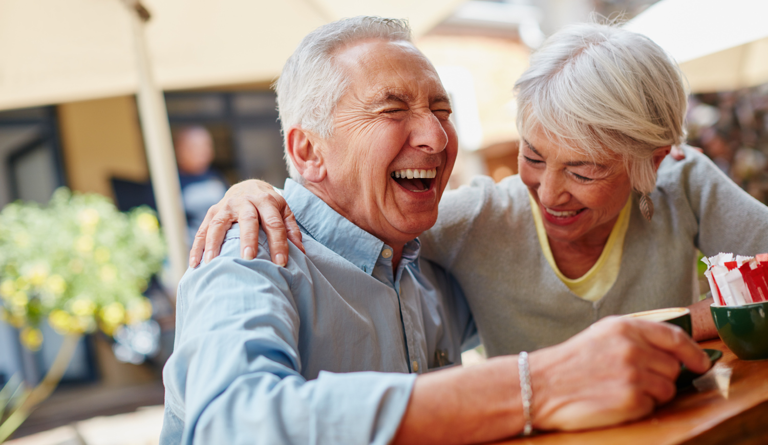 Older couple laughing - Geriatrics